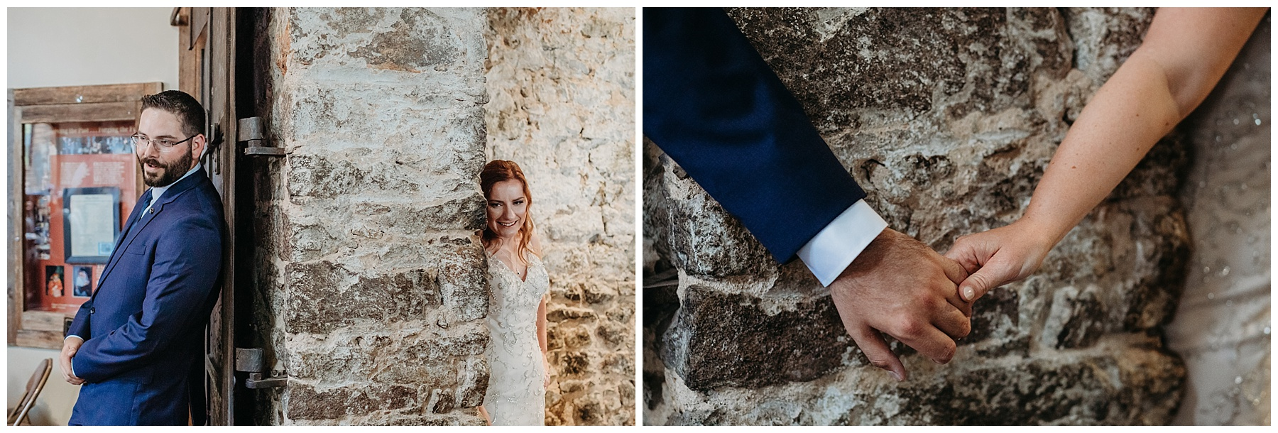 miners foundry bride and groom first look