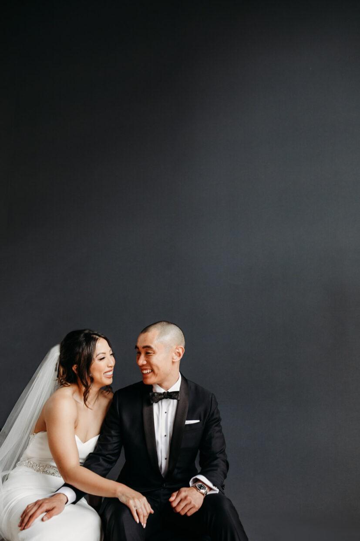 bride and groom quiet moment at Sawyer Kimpton Hotel in Sacramento California
