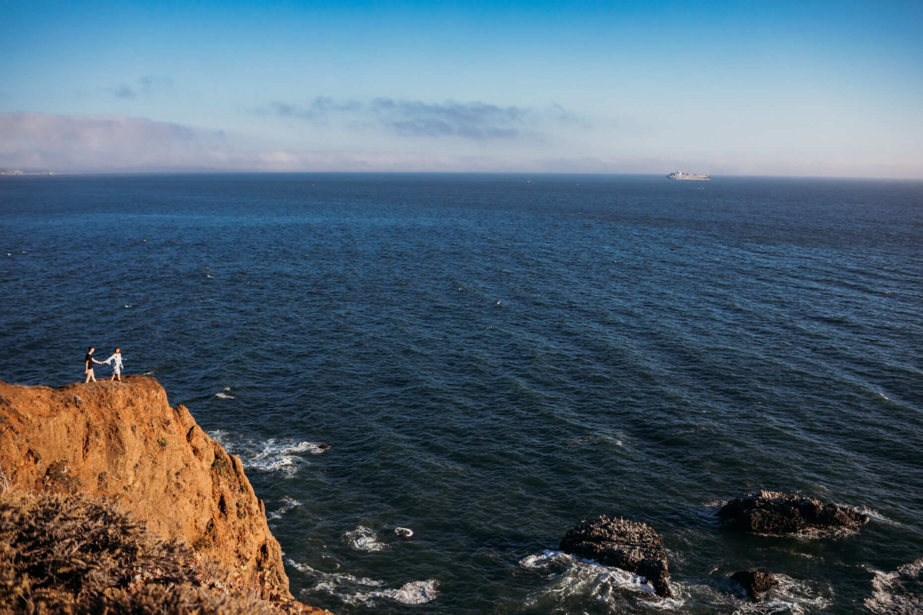 marin headlands engagement photography