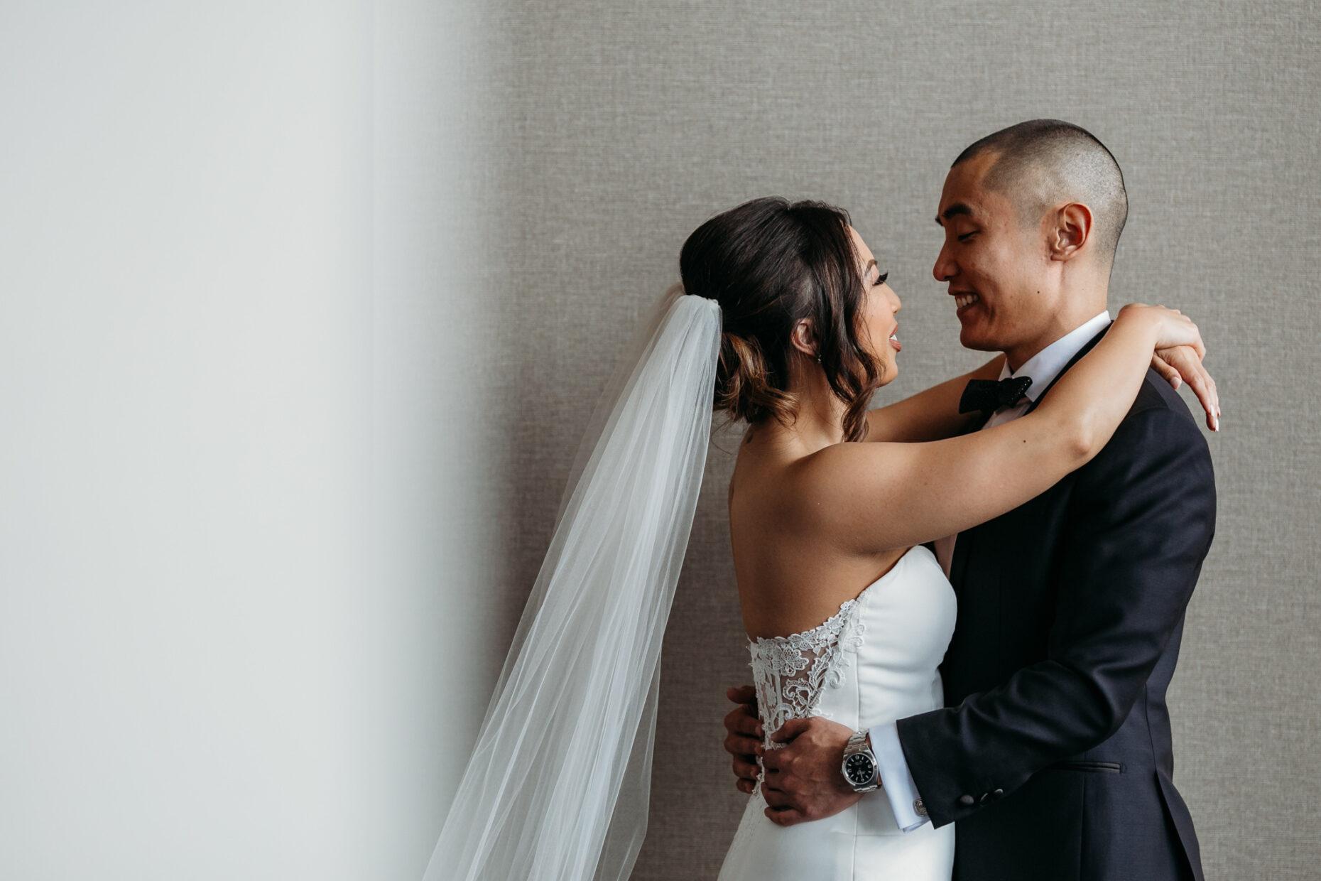 bride and groom sawyer hotel sacramento