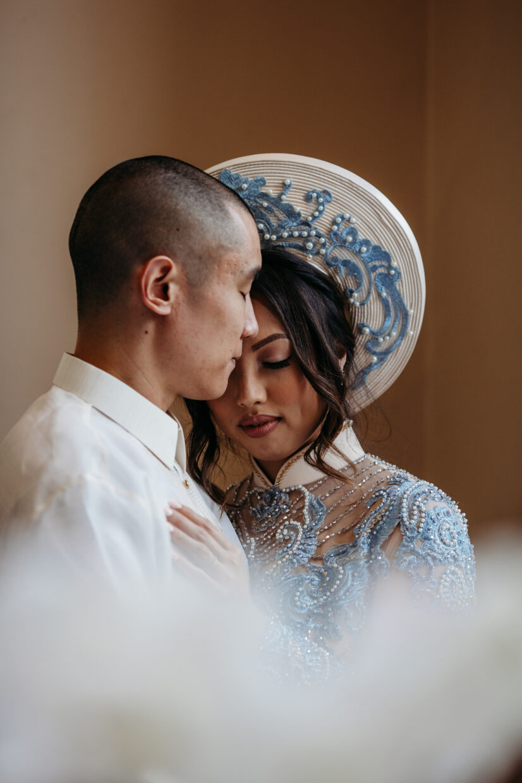 filipino vietnamese wedding bride and groom