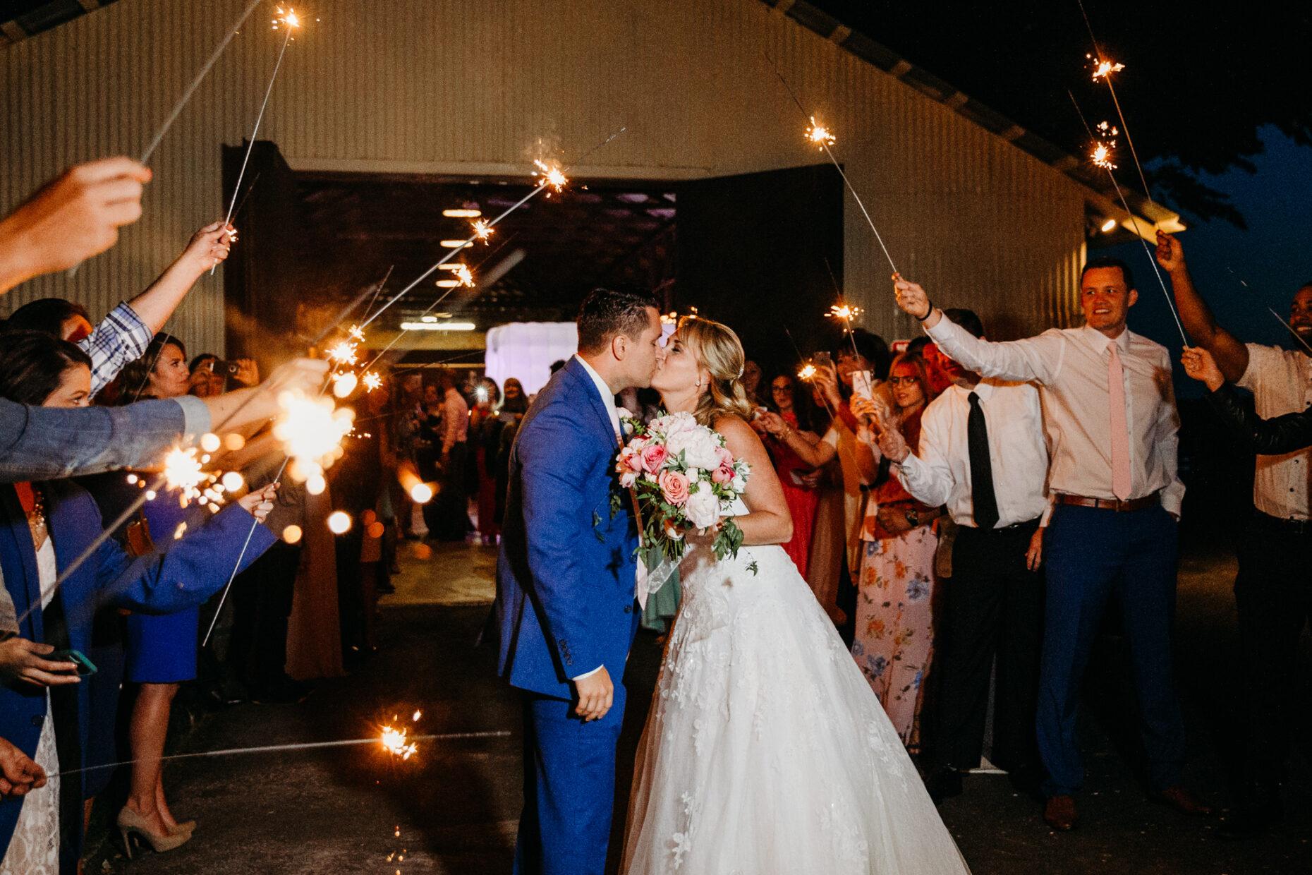 Wilson winery clarksburg Sacramento wedding sparkler exit