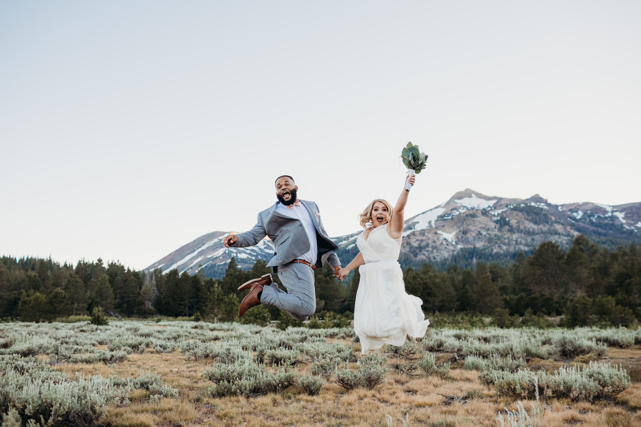 tahoe elopement at hope valley celebration